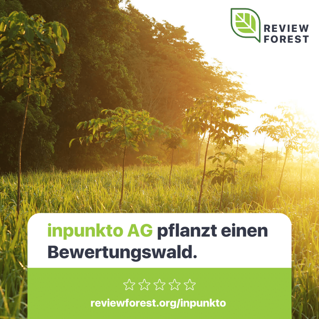 inpunkto AG pflanzt Bäume mit Review Forest