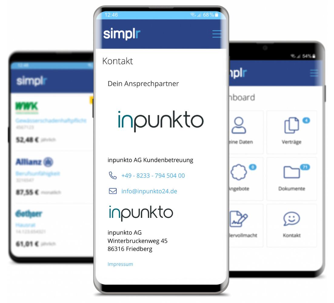Simplr App Darstellung